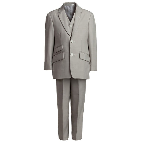 Boys Beige 3-Piece Suit