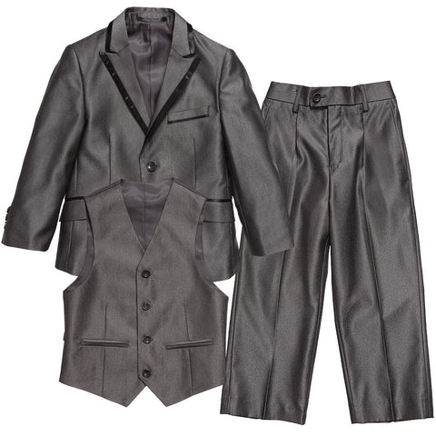 Boys Grey 3 Piece Dinner Suit