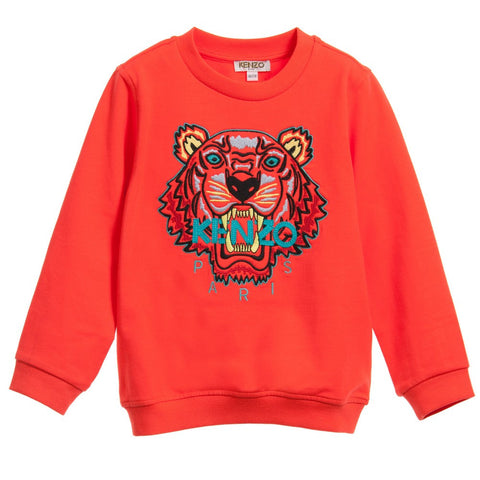 Unisex Orange Tiger Sweater