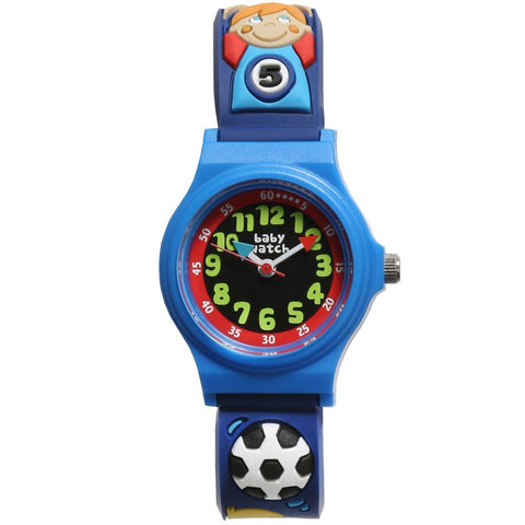 "Boys Blue Football ""My First Watch"" (19cm)"