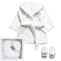 White Baby Bathrobe & Slippers Gift Set - Salon3o, Kooperativa GO-RE z.b.o., Tupaliče 15, 4205 Preddvor,Slovenia,Europe.All rights reserved.