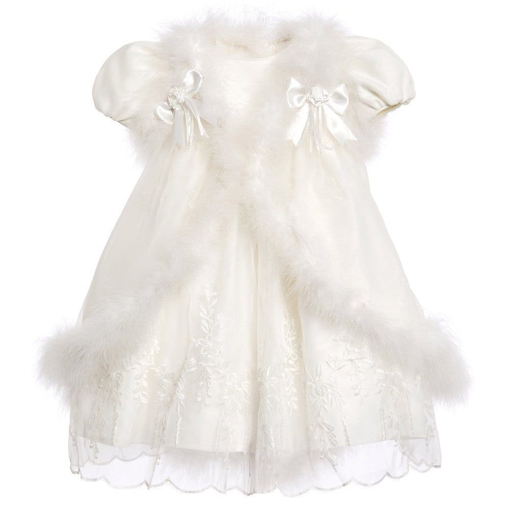 ROMANO PRINCESS Baby Girls Ivory Organza Dress & Cape Set - Salon3o, Kooperativa GO-RE z.b.o., Tupaliče 15, 4205 Preddvor,Slovenia,Europe.All rights reserved.