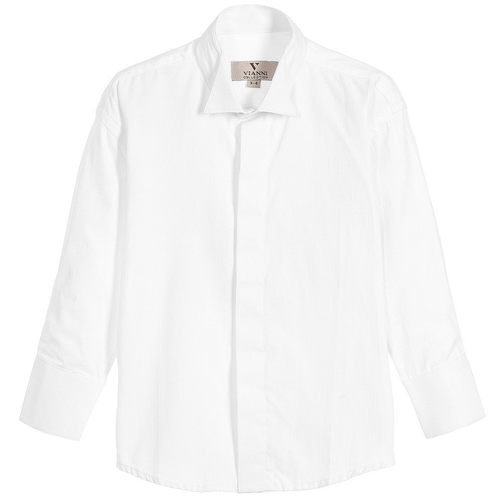 Boys White Cotton Wing Collar Shirt - Salon3o, Kooperativa GO-RE z.b.o., Tupaliče 15, 4205 Preddvor,Slovenia,Europe.All rights reserved.