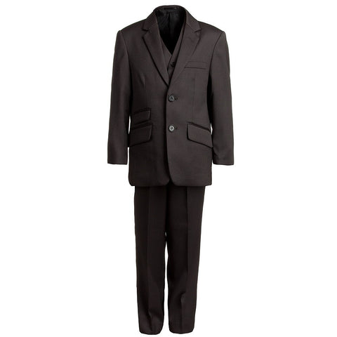 Boys Brown 3-Piece Suit