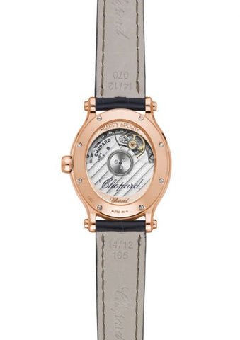 HAPPY SPORT OVAL 31 X 29 MM, AUTOMATIC, ROSE GOLD, DIAMONDS