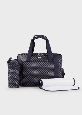 Mummy bag set with changing mat and bottle holder