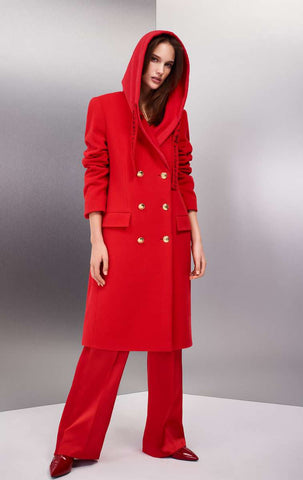 ESCADA X RITA ORA - WOOL HOODED COAT