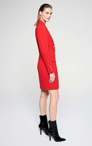 ESCADA X RITA ORA JERSEY BLAZER DRESS