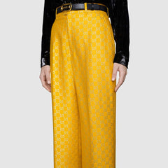 Light GG lamé wide trousers