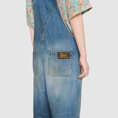 Eco washed organic denim overall