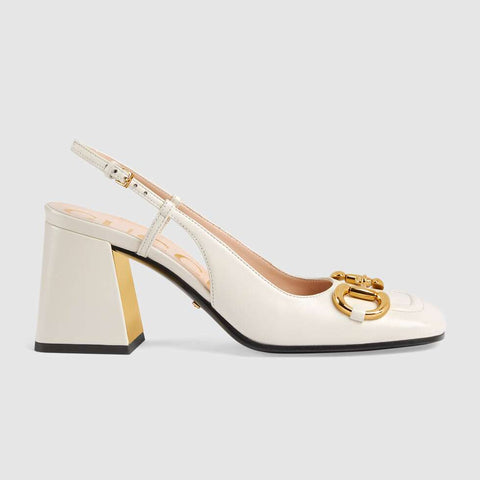 Women's mid-heel slingback with Horsebit