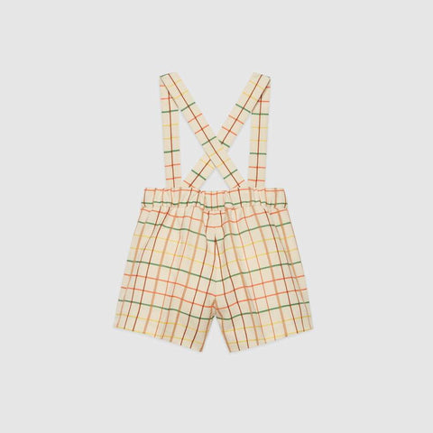 Baby check wool overall