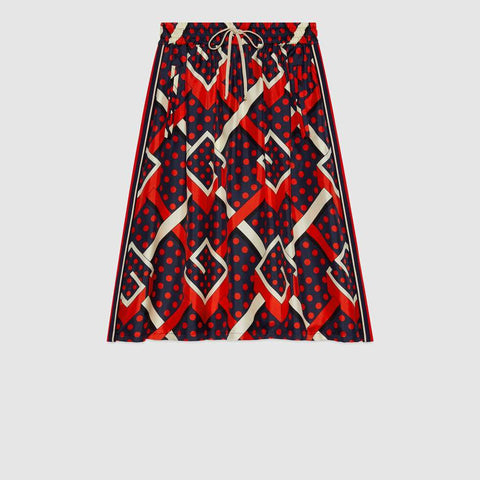 G dot labyrinth print skirt