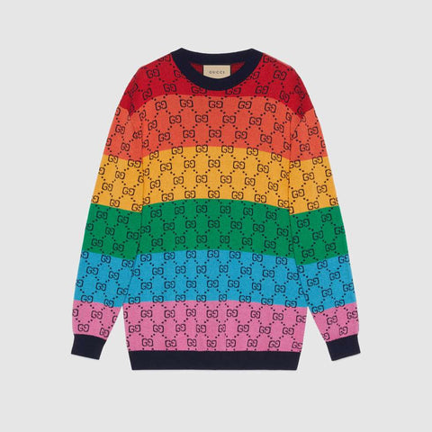 GG Multicolour wool cotton sweater