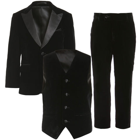 Black Velvet 3 Piece Evening Suit