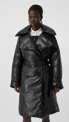 Lambskin Down-filled Oversized Trench Coat - Salon3o, Kooperativa GO-RE z.b.o., Tupaliče 15, 4205 Preddvor,Slovenia,Europe.All rights reserved.