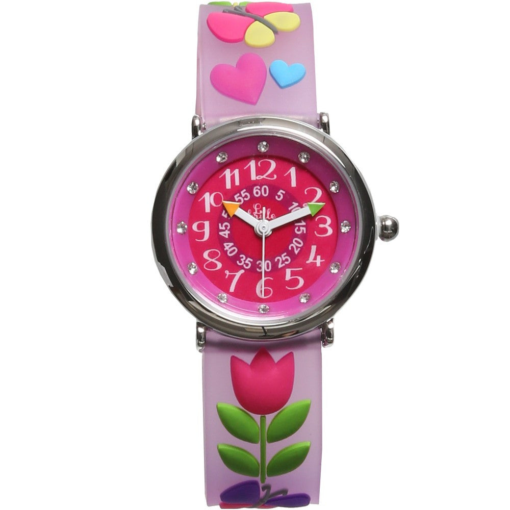 Girls Pink Tulip Watch (20cm) - Salon3o, Kooperativa GO-RE z.b.o., Tupaliče 15, 4205 Preddvor,Slovenia,Europe.All rights reserved.