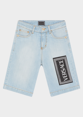 YOUNG VERSACE 90S VINTAGE LOGO DENIM SHORTS - Salon3o, Kooperativa GO-RE z.b.o., Tupaliče 15, 4205 Preddvor,Slovenia,Europe.All rights reserved.