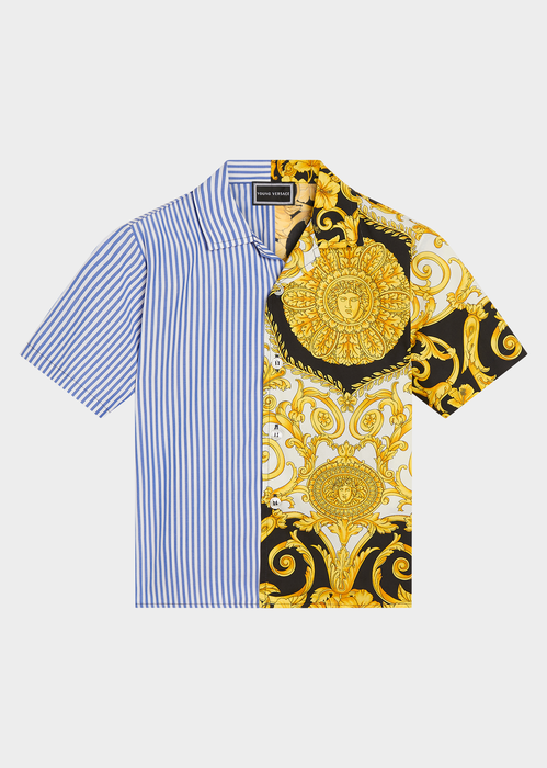 YOUNG VERSACE GOLD HIBISCUS PRINT SHIRT - Salon3o, Kooperativa GO-RE z.b.o., Tupaliče 15, 4205 Preddvor,Slovenia,Europe.All rights reserved.