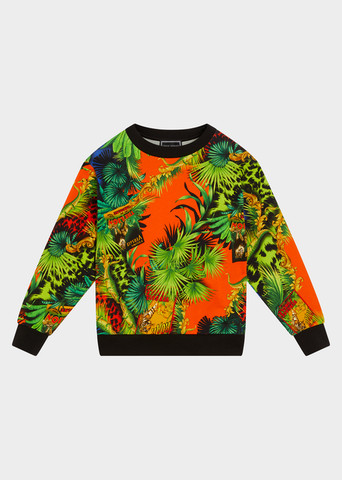 YOUNG VERSACE JUNGLE PRINT SWEATSHIRT