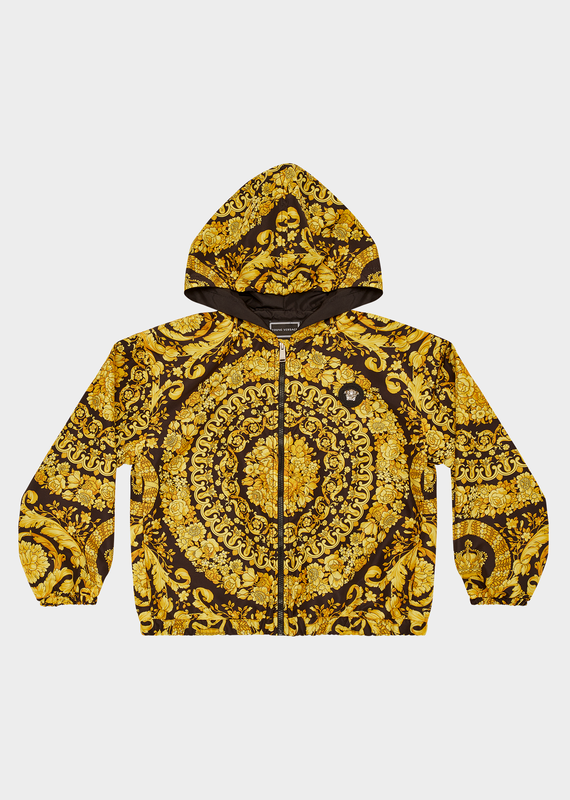 YOUNG VERSACE BAROCCO PRINT HOODED JACKET - Salon3o, Kooperativa GO-RE z.b.o., Tupaliče 15, 4205 Preddvor,Slovenia,Europe.All rights reserved.