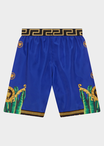 YOUNG VERSACE JUNGLE PRINT SWIM SHORTS