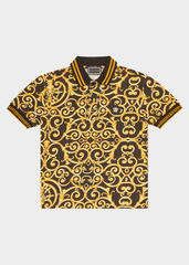 Barocco Print Polo Shirt - Salon3o, Kooperativa GO-RE z.b.o., Tupaliče 15, 4205 Preddvor,Slovenia,Europe.All rights reserved.