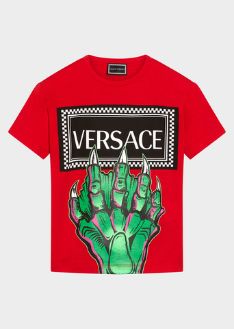 YOUNG VERSACE 90S VINTAGE LOGO T-SHIRT