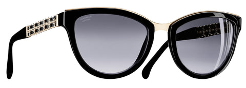CHANEL CH5361Q Black C501S8 55mm Polarised