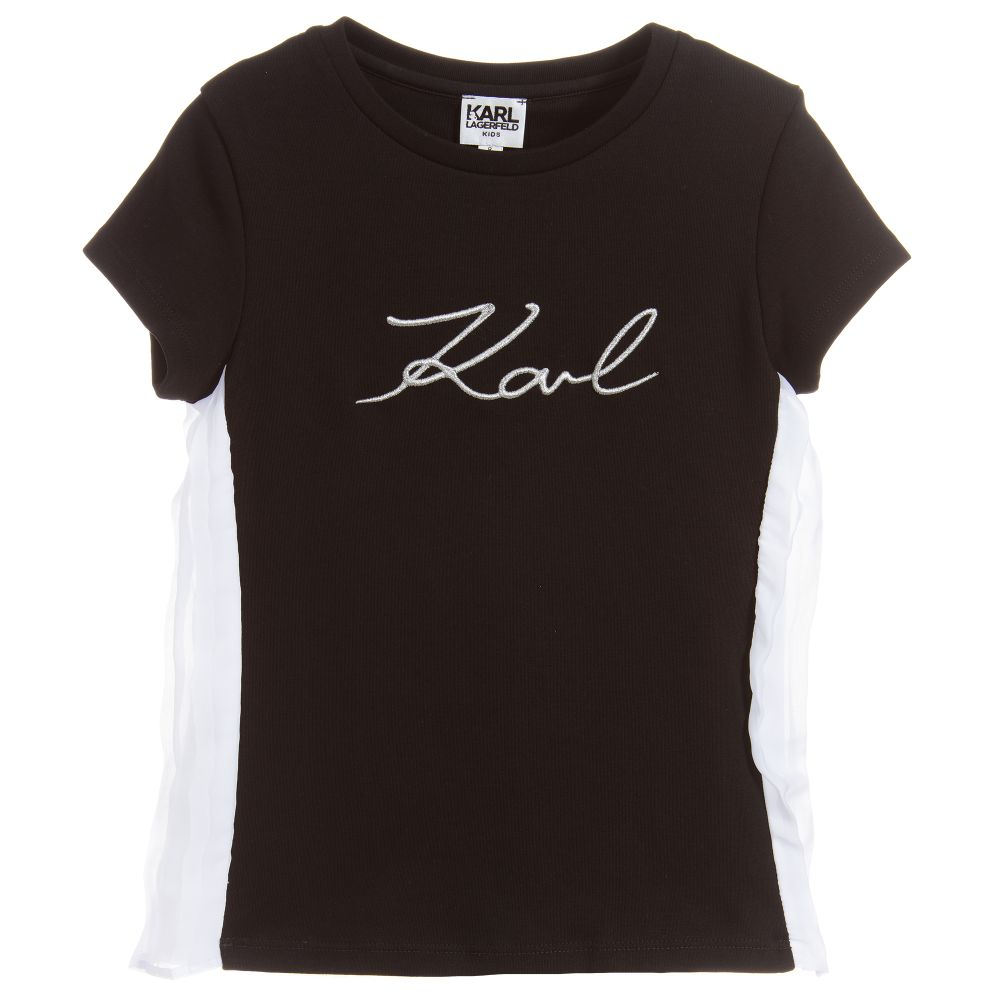 Girls Black Cotton Logo Top - Salon3o, Kooperativa GO-RE z.b.o., Tupaliče 15, 4205 Preddvor,Slovenia,Europe.All rights reserved.