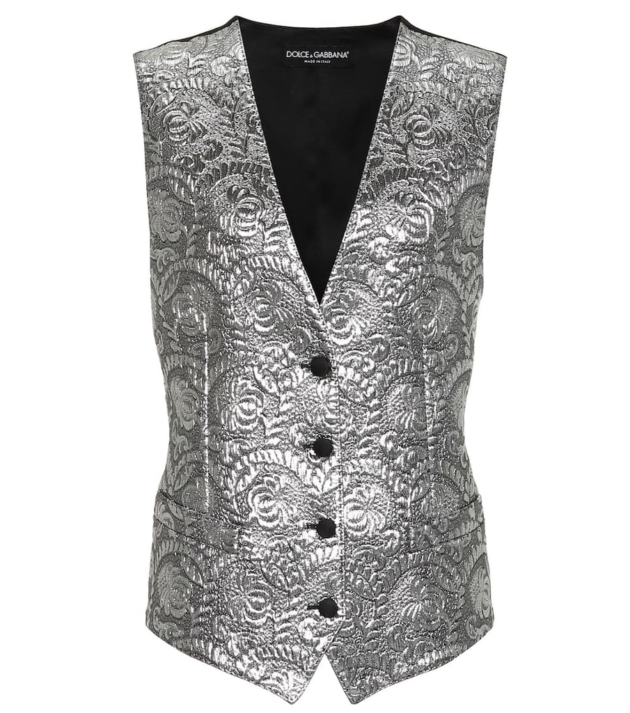 Dolce&Gabbana METALLIC SILK-BLEND JACQUARD VEST - Salon3o, Kooperativa GO-RE z.b.o., Tupaliče 15, 4205 Preddvor,Slovenia,Europe.All rights reserved.