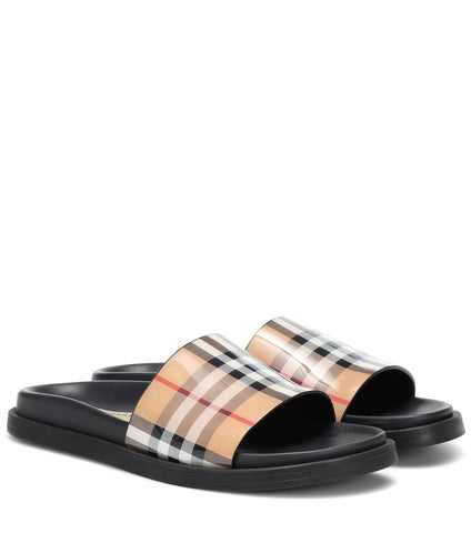BURBERRY Checked slides
