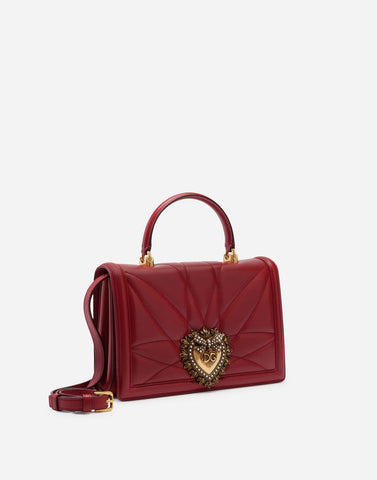 DOLCE & GABBANA Big devotion bag in mordore matelassé nappa