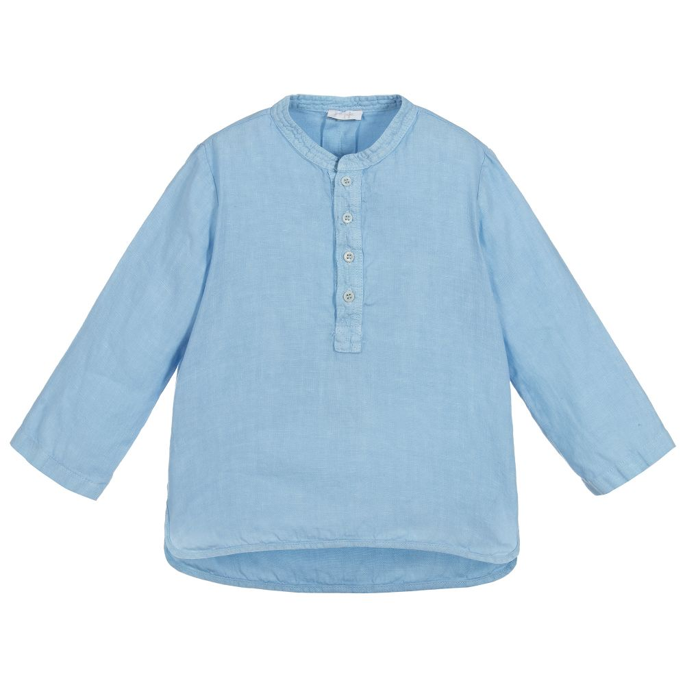 Il Gufo Boys Pale Blue Linen Shirt - Salon3o, Kooperativa GO-RE z.b.o., Tupaliče 15, 4205 Preddvor,Slovenia,Europe.All rights reserved.