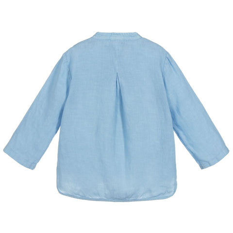 Il Gufo Boys Pale Blue Linen Shirt