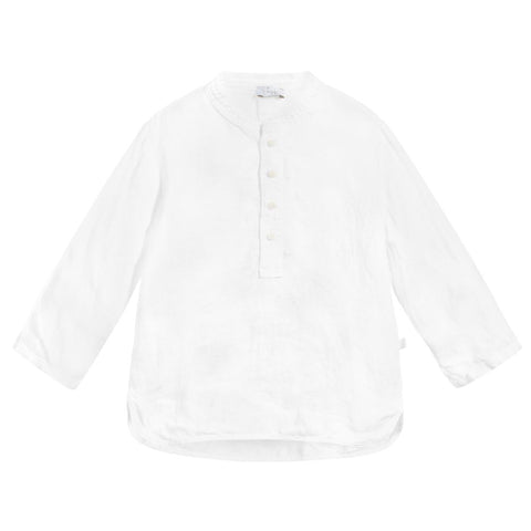 Il Gufo Boys White Linen Shirt