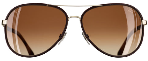 CHANEL CH4219Q Pale Gold / Dark Brown C395S9 59mm Polarised