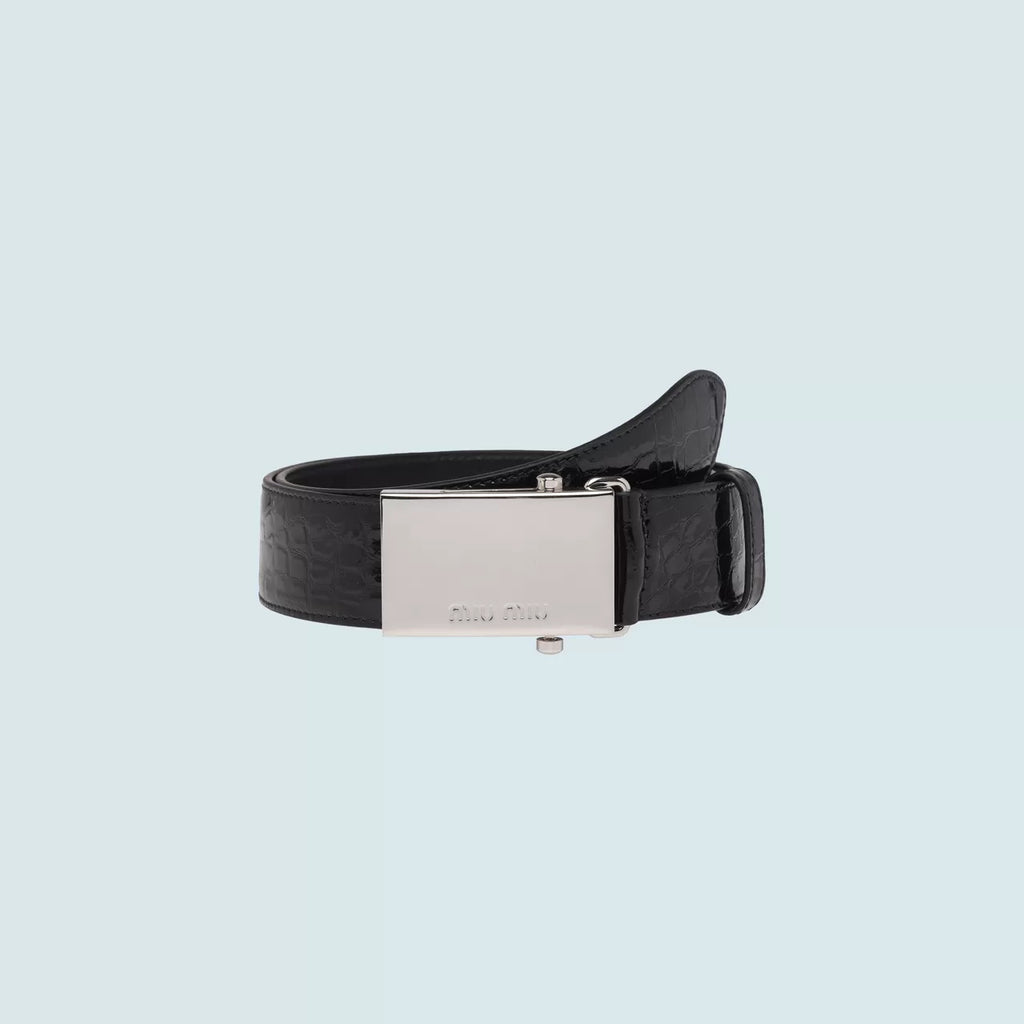 MIU MIU Croco print patent leather belt - Salon3o, Kooperativa GO-RE z.b.o., Tupaliče 15, 4205 Preddvor,Slovenia,Europe.All rights reserved.