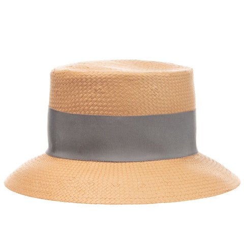 Il Gufo Girls Beige Straw Sun Hat