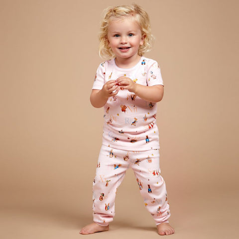 PETER RABBIT™ BY SALON 3O Girls Pink Cotton Pyjamas