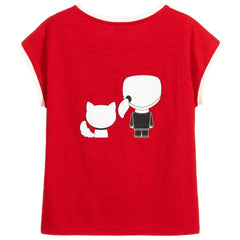 Girls Red Cotton T-Shirt - Salon3o, Kooperativa GO-RE z.b.o., Tupaliče 15, 4205 Preddvor,Slovenia,Europe.All rights reserved.