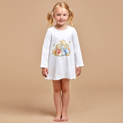 PETER RABBIT™ BY SALON 3O Girls White Cotton Nightdress