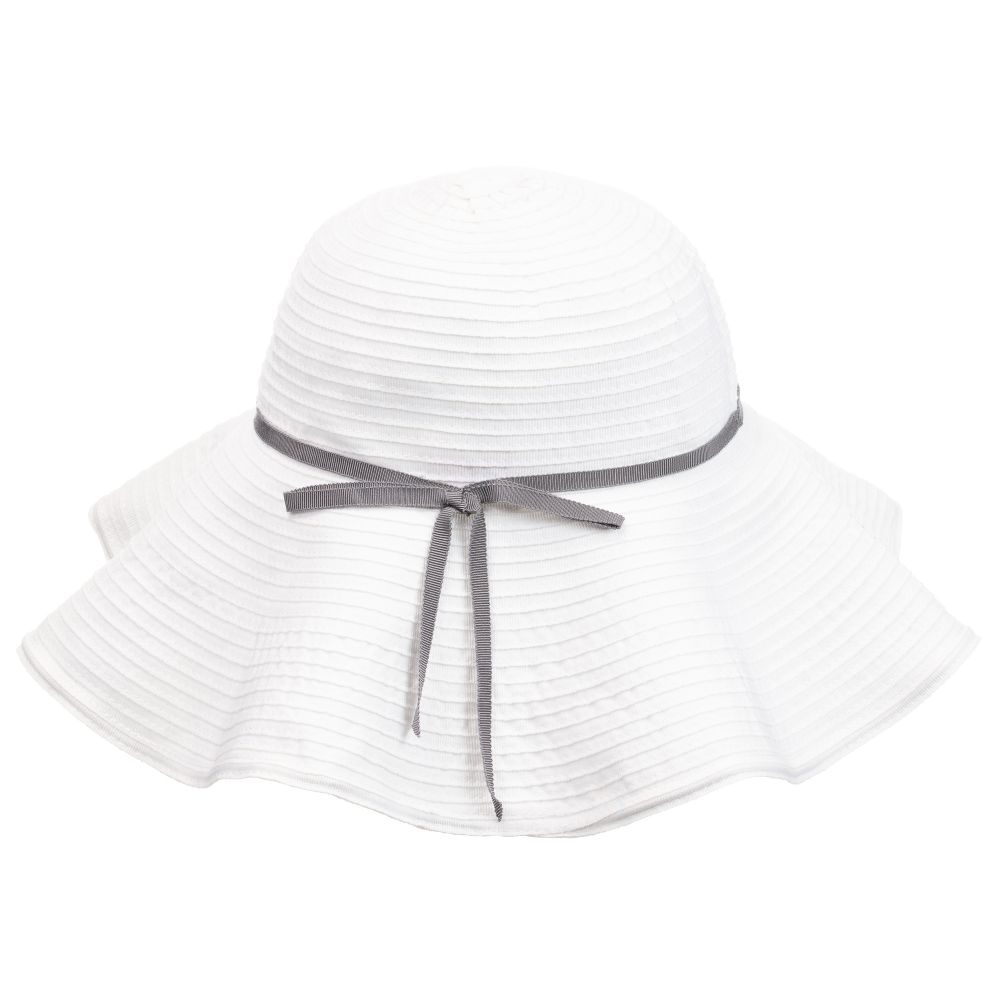 Il Gufo Girls White Sun Hat