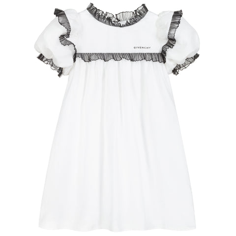 Givenchy Girls White Silk Dress