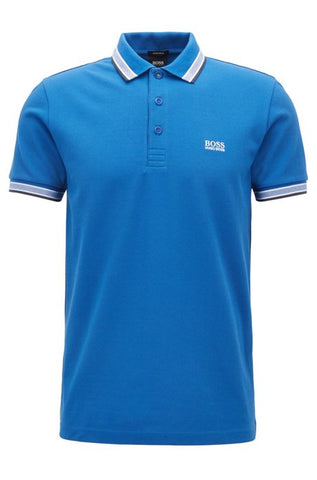 Regular fit polo shirt with 3 button fastening