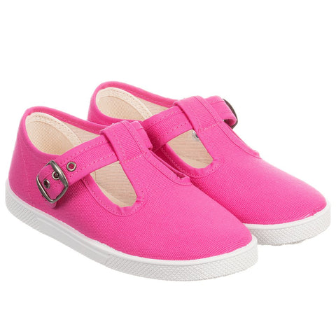 KIKU Girls Pink Canvas Shoes