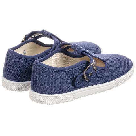 KIKU Navy Blue Canvas Shoes