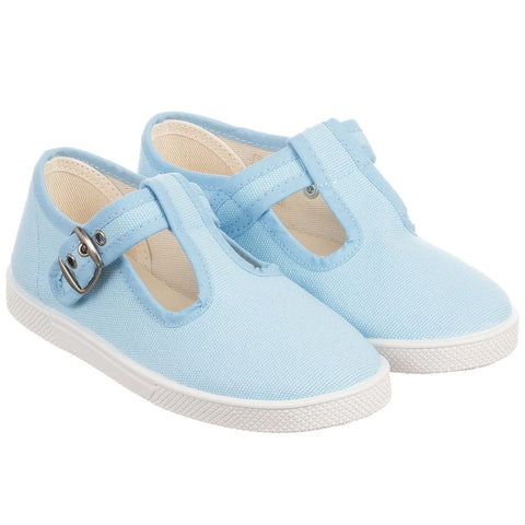 KIKU Pale Blue Canvas Shoes