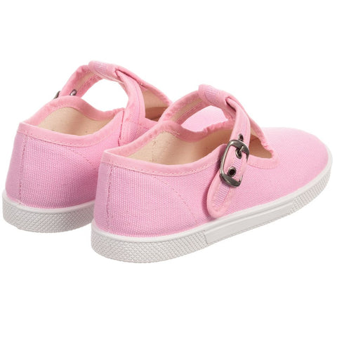 KIKU Pink Canvas Shoes