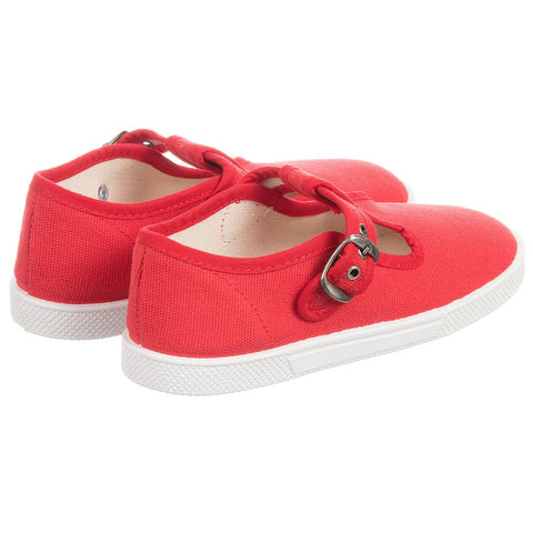 KIKU Red Canvas Shoes